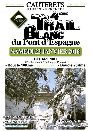 Affiche Trail Blanc 2016