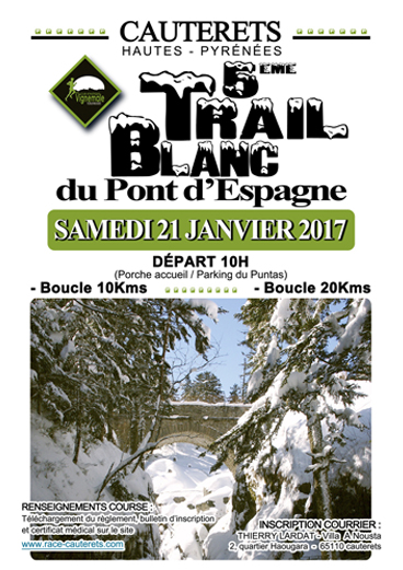 Affiche Trail Blanc 2017